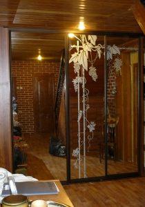 двери-купе пескоструйная обработка